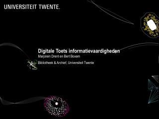 Digitale Toets informatievaardigheden
