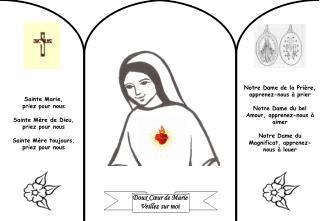 Doux Cœur de Marie Veillez sur moi