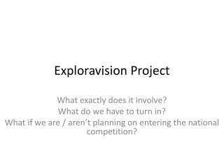 Exploravision Project