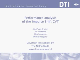 Performance analysis  of the Impulse Shift CVT
