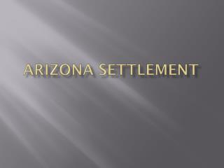 Arizona Settlement