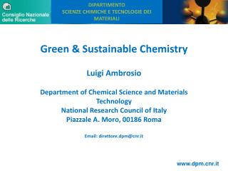 Green & Sustainable Chemistry