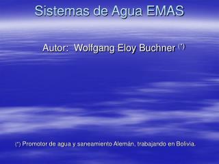 Sistemas de Agua EMAS