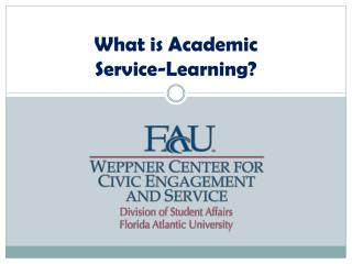 What is Academic  Service-Learning?