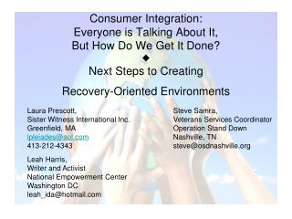 Laura Prescott, Sister Witness International Inc. Greenfield, MA lpleiades@aol 413-212-4343