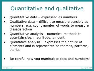 Quantitative and qualitative