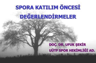 SPORA KATILIM ÖNCESİ DEĞERLENDİRMELER