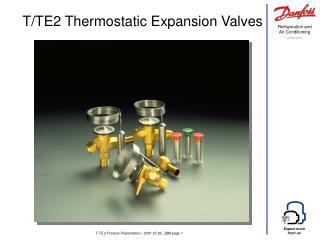 T-TE 2 Product Presentation - 2001.07.23, JBM page 1