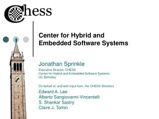 Center for Hybrid and Embedded Software Systems