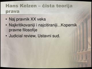 Hans Kelzen – čista teorija prava