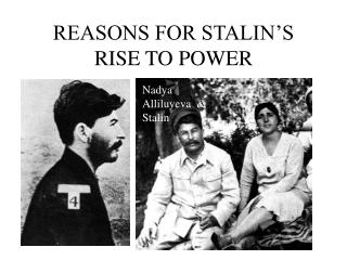 REASONS FOR STALIN'S RISE TO POWER