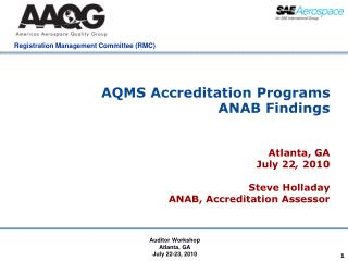 AQMS Accreditation Programs  ANAB Findings