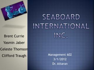 SEaBoard  International Inc.