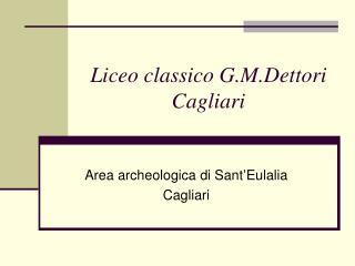 Liceo classico G.M.Dettori Cagliari