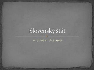 Slovenský štát