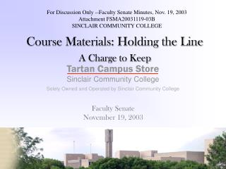 Course Materials: Holding the Line