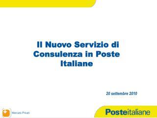 Il Nuovo Servizio di Consulenza in Poste Italiane