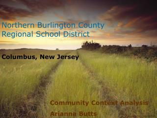 Northern Burlington County Regional School District Columbus, New Jersey