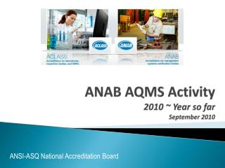 ANAB AQMS Activity 2010 ~ Year so far September 2010