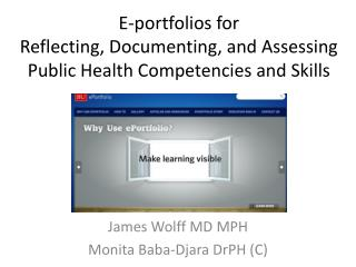 James Wolff MD MPH Monita Baba-Djara DrPH (C)