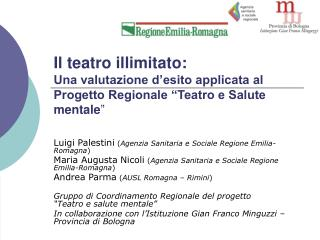 Luigi Palestini ( Agenzia Sanitaria e Sociale Regione Emilia-Romagna )