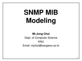 SNMP MIB  Modeling