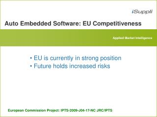 Auto Embedded Software: EU Competitiveness
