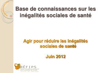 Base de connaissances sur les inégalités sociales de santé