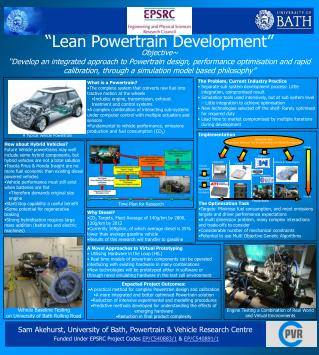 �Lean Powertrain Development�