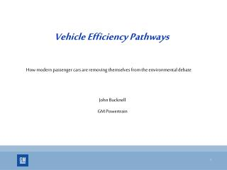 Vehicle Efficiency Pathways