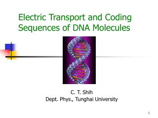 Electric Transport and Coding Sequences of DNA Molecules