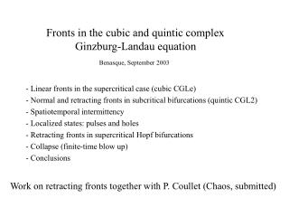 Fronts in the cubic and quintic complex  	Ginzburg-Landau equation