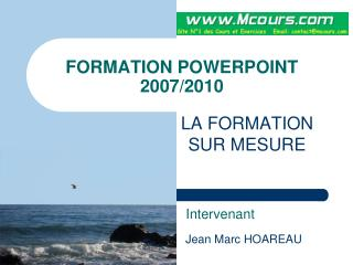FORMATION POWERPOINT  2007/2010
