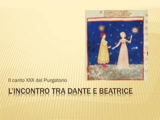 L'incontro tra Dante e Beatrice