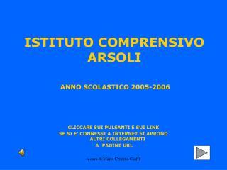 ANNO SCOLASTICO 2005-2006