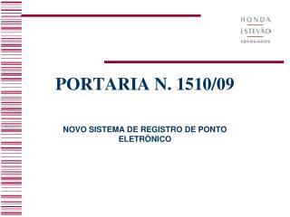 PORTARIA N. 1510/09