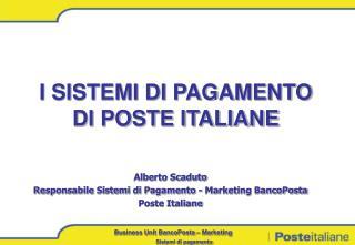 I SISTEMI DI PAGAMENTO DI POSTE ITALIANE