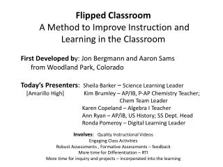 Flipped Classroom  A  Method to Improve Instruction and Learning in the Classroom
