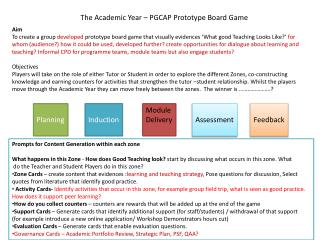 The  Academic  Year – PGCAP Prototype Board Game
