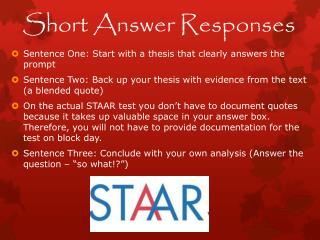 Short Answer Responses