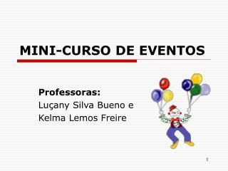 MINI-CURSO DE EVENTOS