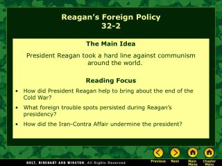 Reagan's Foreign Policy 32-2