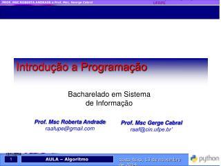 Prof. Msc Roberta Andrade raafupe@gmail