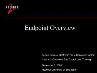 Endpoint Overview