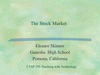 Eleanor Skinner Ganesha  High School Pomona, California