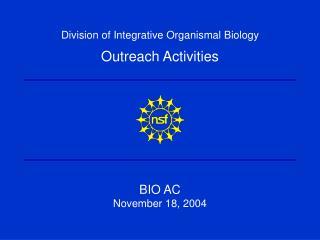 BIO AC November 18, 2004
