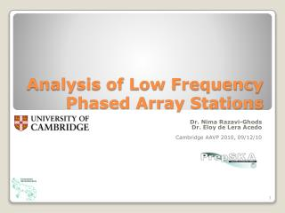 Analysis of Low Frequency Phased Array Stations