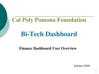 Finance Dashboard User Overview