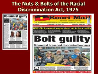 The Nuts & Bolts of the Racial Discrimination Act, 1975
