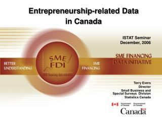 Entrepreneurship-related Data  in Canada